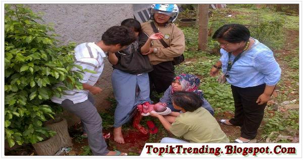 Siswi SMK Di Tangerang Melahirkan Di Kebun