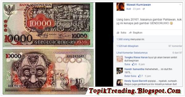 Gambar Hantu Genderuwo Di Uang Rp.10.000