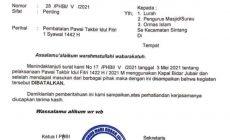 Permalink to PHBI Kabupaten Sintang Batalkan Pawai Takbiran Sambut Idul Fitri 1442 H